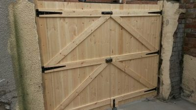 softwood garden gates