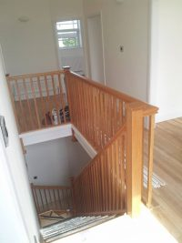timber stairs and banister