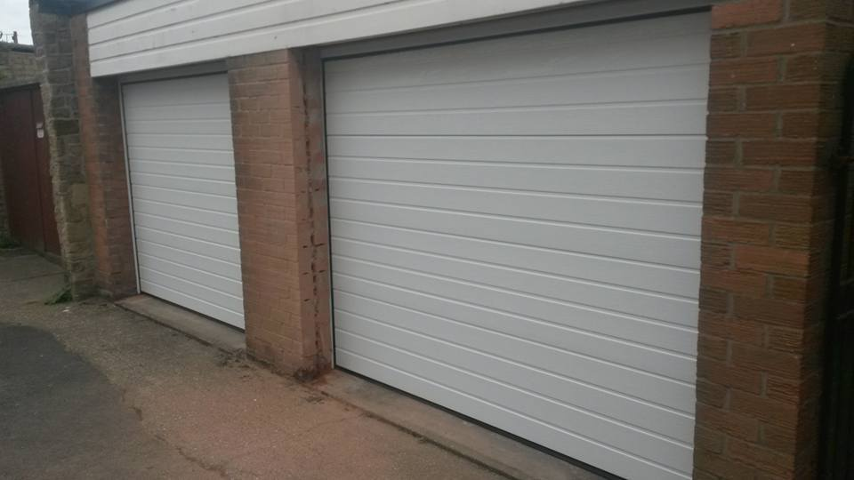 twin sectional doors